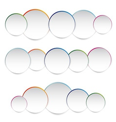 white paper round vector image