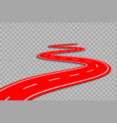 winding road on a transparent backgroundte vector image