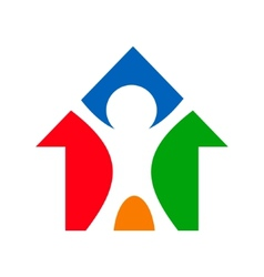 Building a house sign vector image