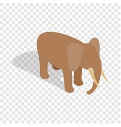 elephant isometric icon vector image