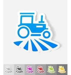realistic design element tractor vector image