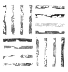 Black and White rectangular paint stamps vector image