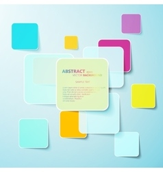 Collection of paper notes with copy space for text vector image vector image