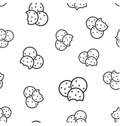 Cookie seamless pattern background business vector