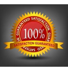 Fatisfaction guaranteed label vector image vector image