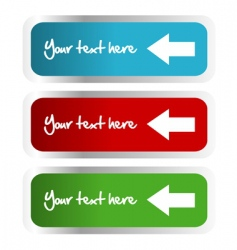 labels with arrows vector image vector image