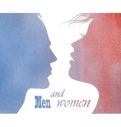 male and female profile vector image