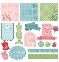 Scrapbook desgin Elements vector image vector image