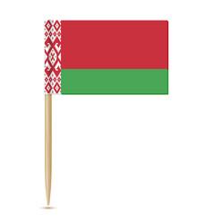 belarus flag toothpick 10eps vector image vector image