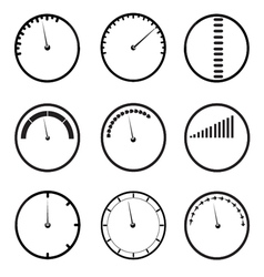 gauges icons set vector image vector image