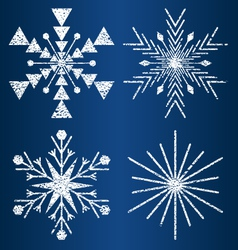Textured snowflakes 3 vector