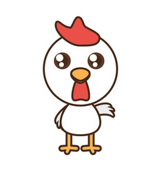 cute chicken toy kawaii image vector image
