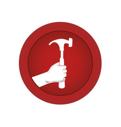 hand human with hammer vector image