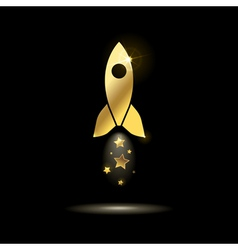 icon space rocket vector image vector image