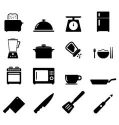 Kitchen icon vector