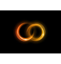 neon light dark orange vector image