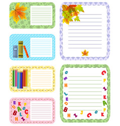 paper banners with notes attached colorful tape vector image