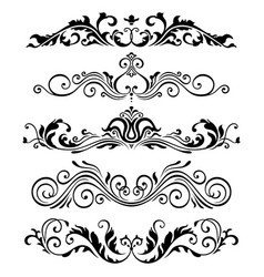 retro victorian elements collection for vector image