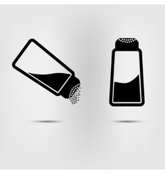 salt icon flat vector image