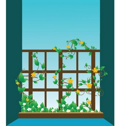 window illustration vector image vector image