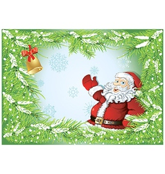winter background with santa vector image