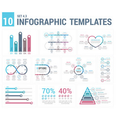 9 infographic templates vector image