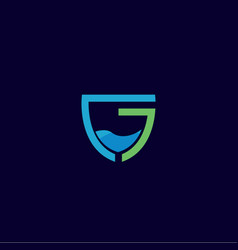 Abstract drink letter g logo design template vector