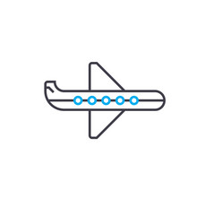air transportation thin line stroke icon vector image