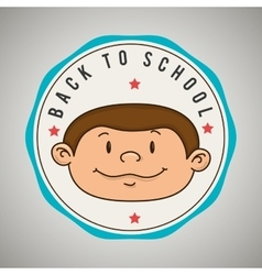 back to school emblem isolated icon design vector image