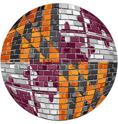 ball with maryland flag vector image