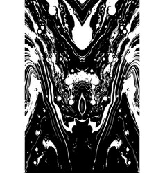 Black and white marble texture vector