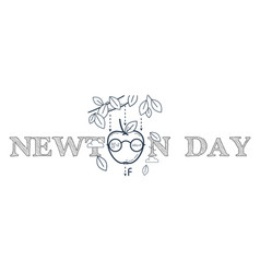 black banner newton day vector image