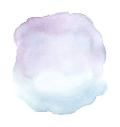 blue and purple gradient stain watercolor brush vector image