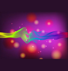 Bokeh and line vector