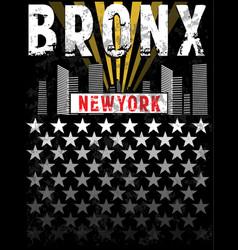 bronx print tee graphic design vector image