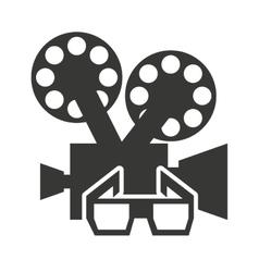 camera video with cinema icon vector image