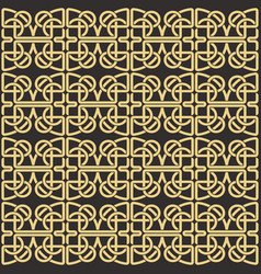 celtic knot abstract decorative ornament pattern vector image