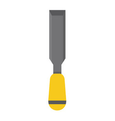 chisel flat icon build and repair carpenter sign vector image