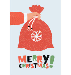 christmas bag background vector image