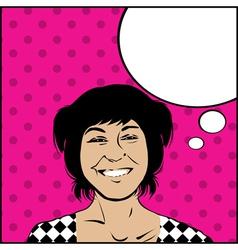 Comic girl vector