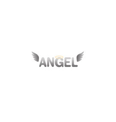 Creative holly angel wings text logo design vector