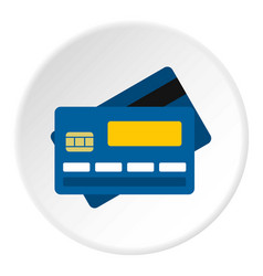 credit card icon circle vector image