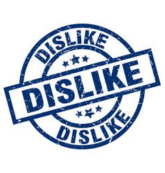 Dislike blue round grunge stamp vector