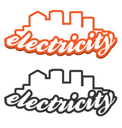 electric logo in flat style vector image