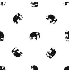 elephant pattern seamless black vector image