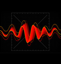 equalizer abstract wave icon vector image