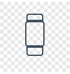 Erase concept linear icon isolated on transparent vector