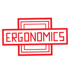Ergonomics stamp typ vector
