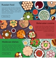 flat of russian belarusian vector image
