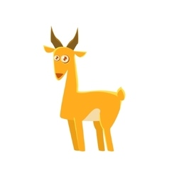 Gazelle toy exotic animal drawing vector